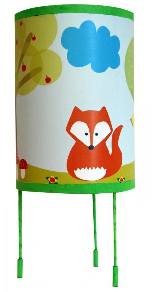 luminaire enfant lampe de chevet le renard et le hibou. Black Bedroom Furniture Sets. Home Design Ideas