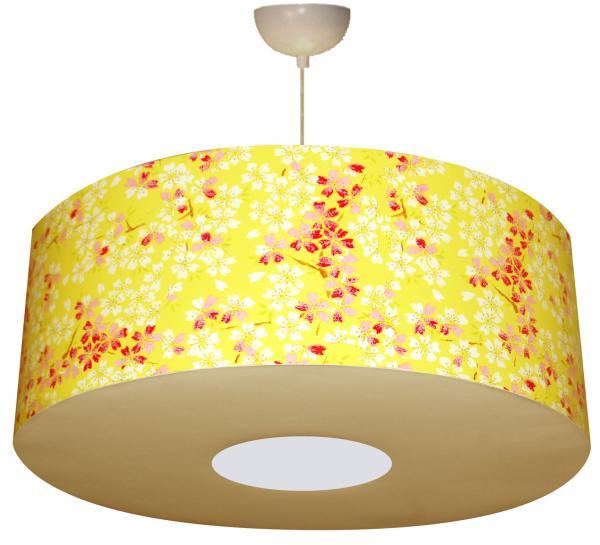 abat jour ou suspension en papier motif cerisier en fleur. Black Bedroom Furniture Sets. Home Design Ideas