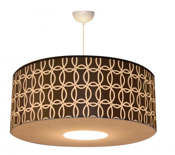 abat jour ou suspension en papier motif ronds entrelac s. Black Bedroom Furniture Sets. Home Design Ideas