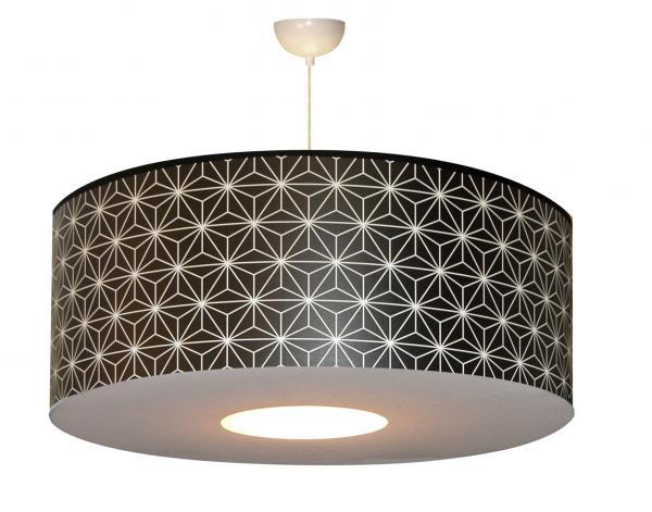 abat jour ou suspension en papier motif graphique. Black Bedroom Furniture Sets. Home Design Ideas