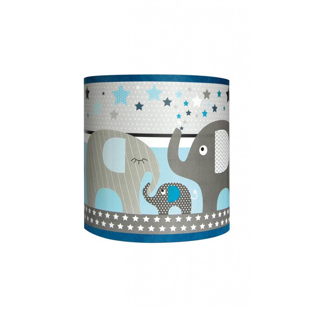 Applique éléphant bleu