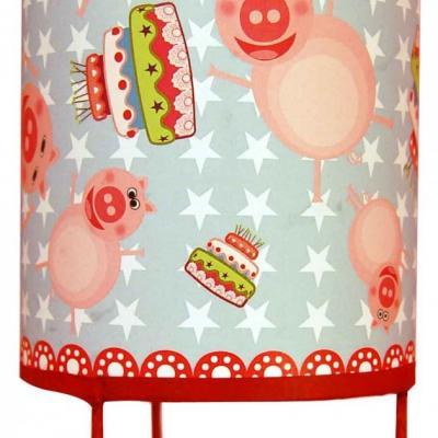 Luminaire enfant Lampe de chevet Les Cochons et les gros gâteaux