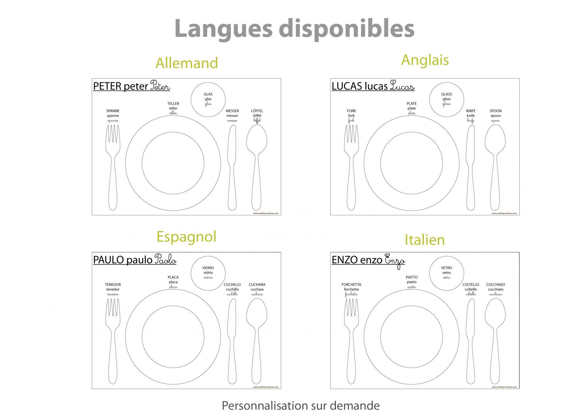 A langues disponibles