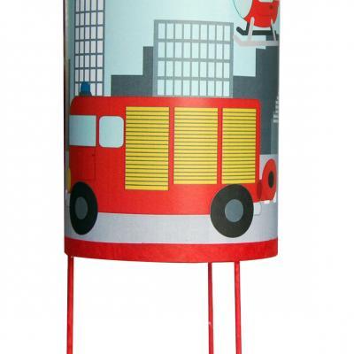 """Lampe de chevet """" Allo les pompiers"""""""