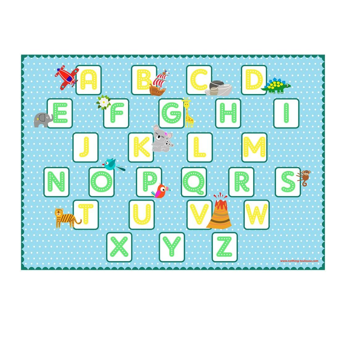 Alphabet b set de table