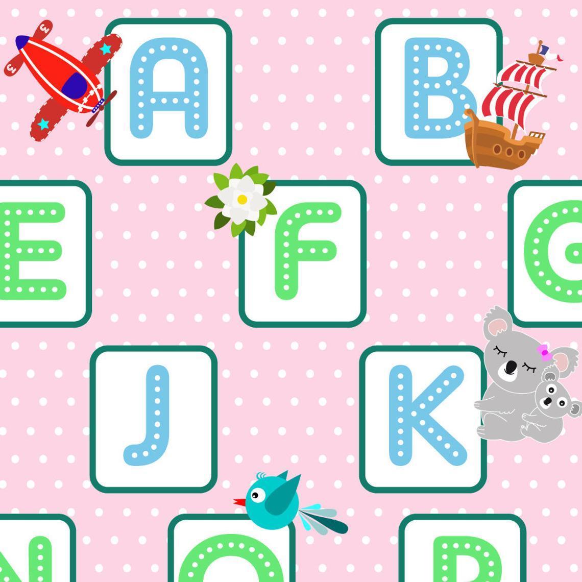 Alphabet r set de table 2