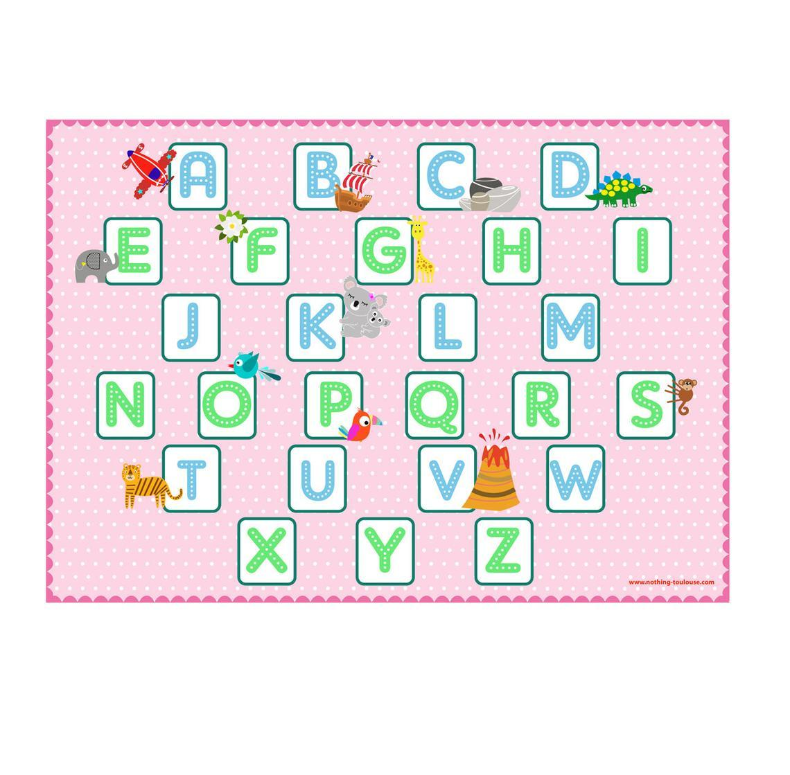 Alphabet r set de table