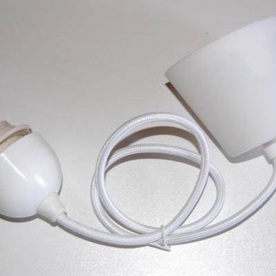Système électrique pour suspension couleur blanc textile