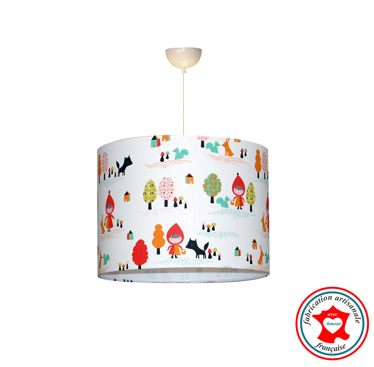 Chaperon rouge tissu suspension 1