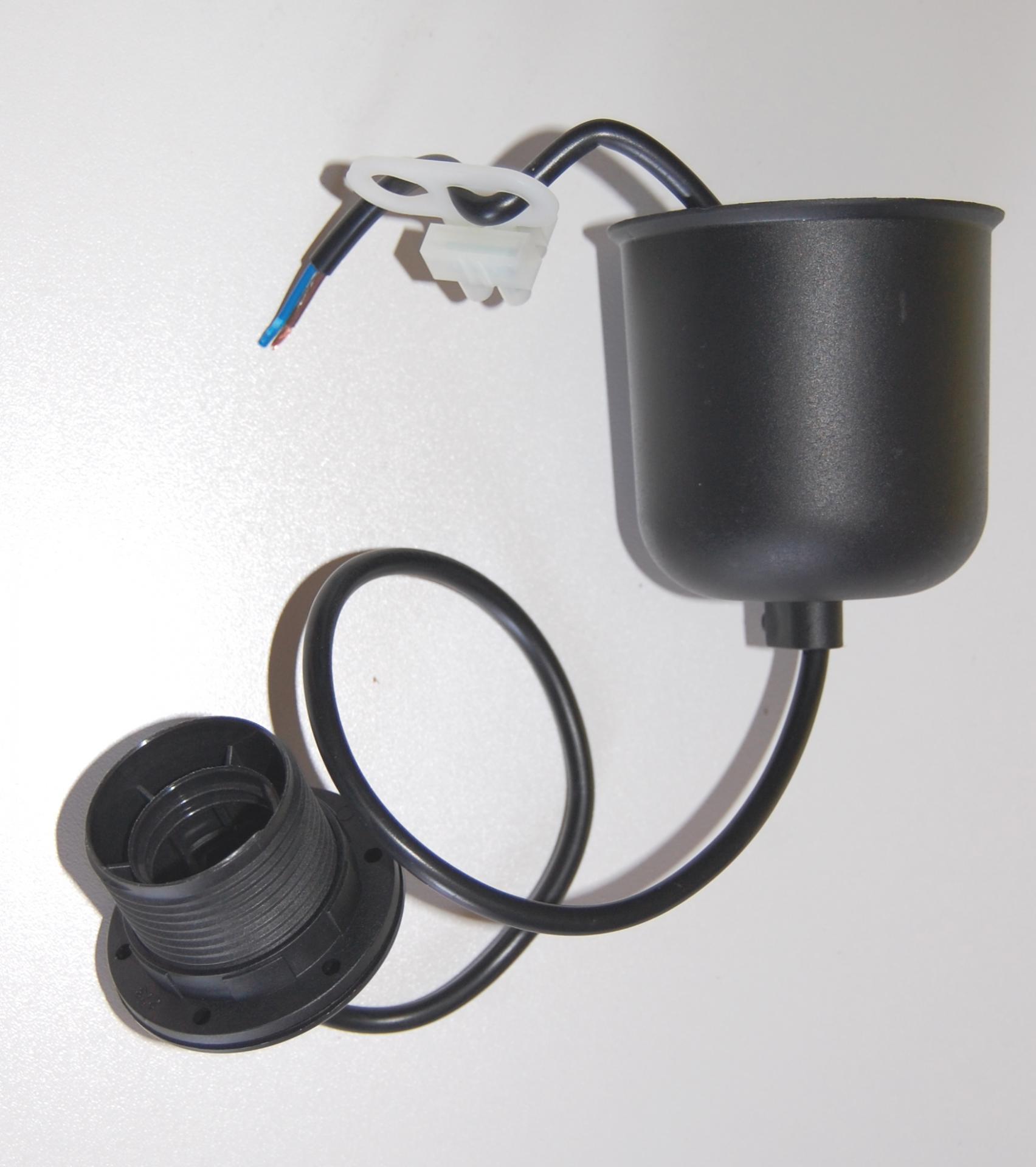Cordon pour suspension plastic noir