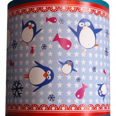 """Luminaire enfant Applique """"Les Pingouins sur la banquise"""""""