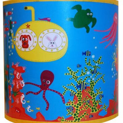 """Luminaire enfant Applique """"Tous à l'eau, les animaux sous marin"""""""
