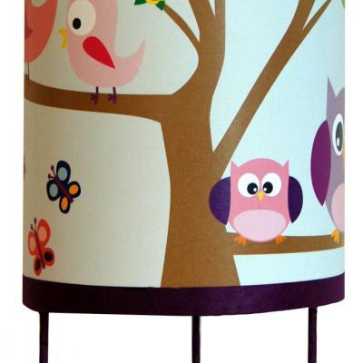 Luminaire enfant Lampe de chevet Les Oiseaux et les hiboux