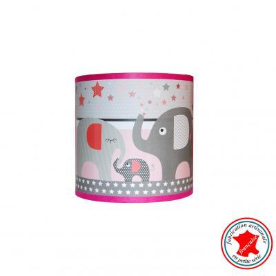 """Applique """" Le défilé des éléphants rose"""""""
