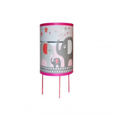 """Lampe de chevet """" Le défilé des éléphants rose"""""""