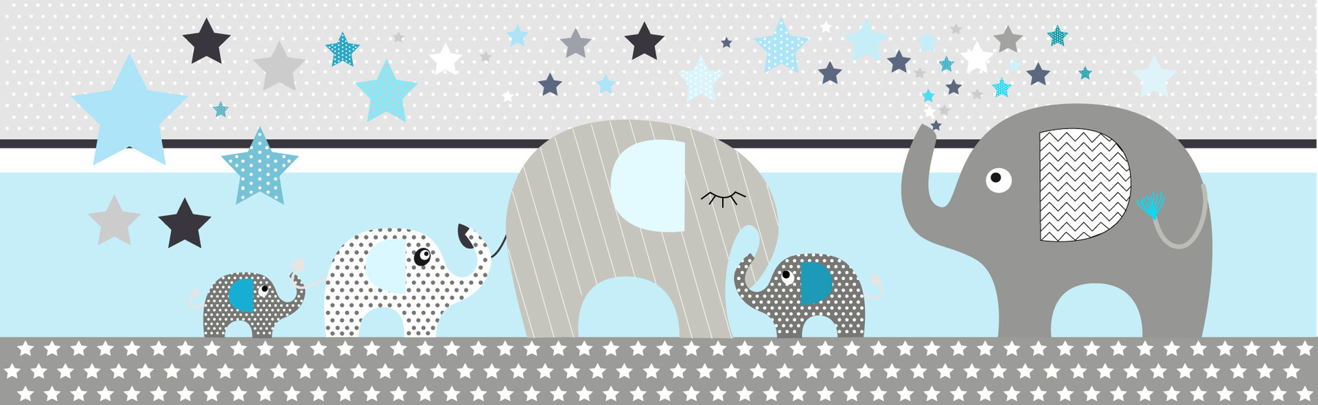 Elephants bleu susp 2