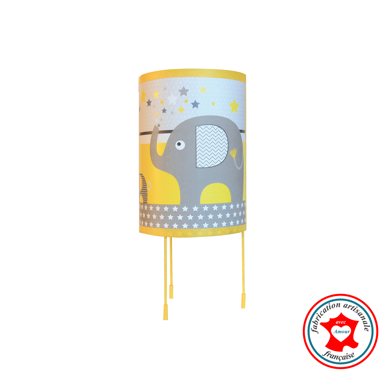 Elephants jaune lampe 8