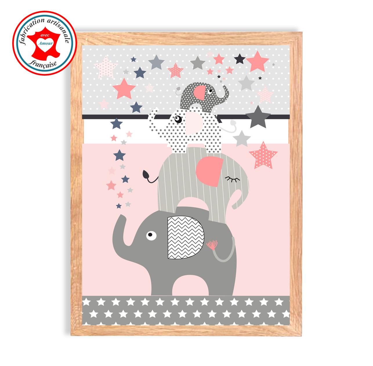 Elephants rose tableau