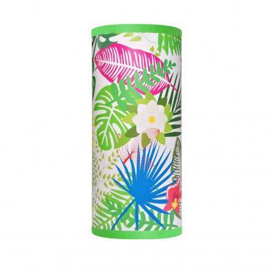 Lampe de chevet, motif feuillage exotic, tons multicolore.
