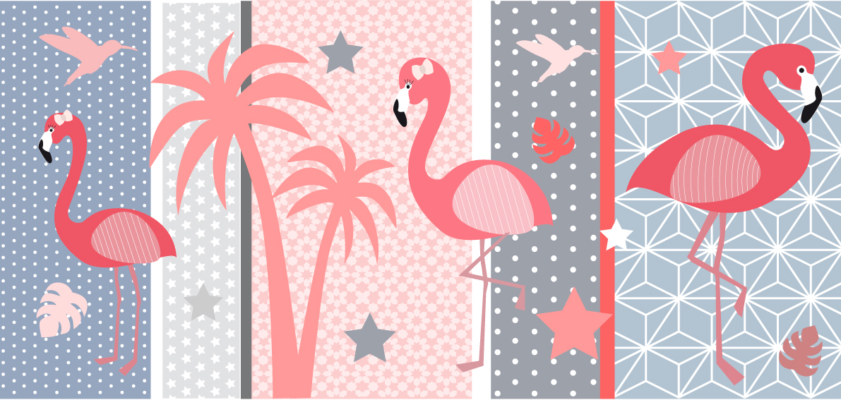 Flamant rose lampe 2