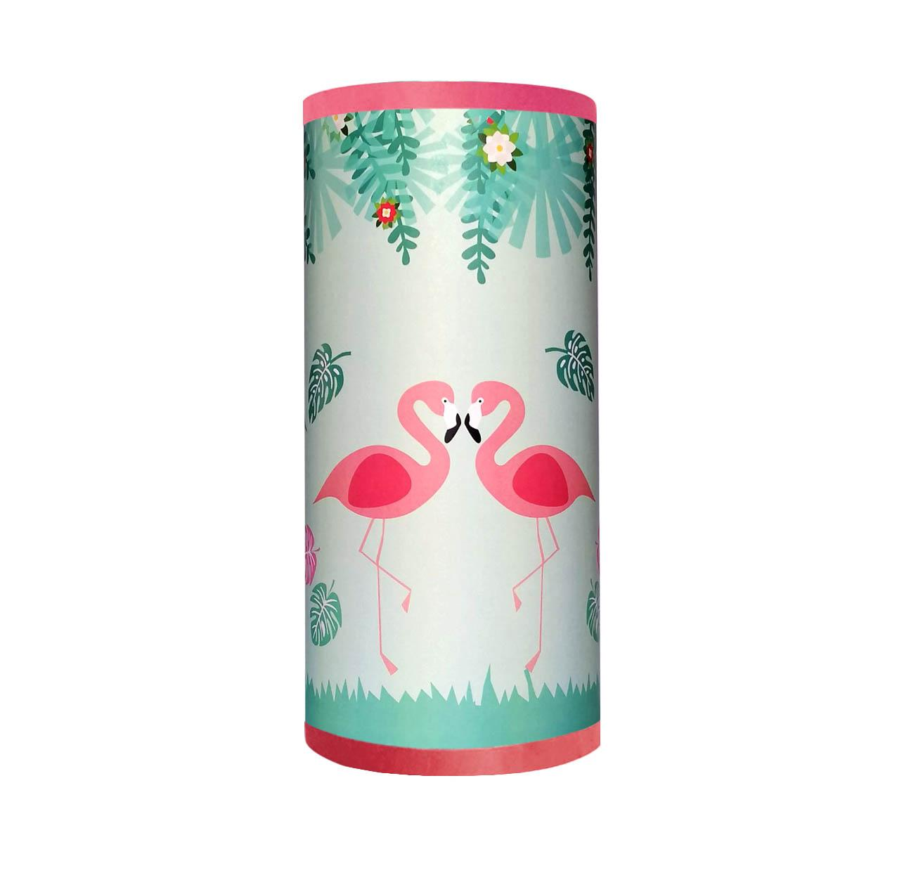 Flamant rose lampe tube