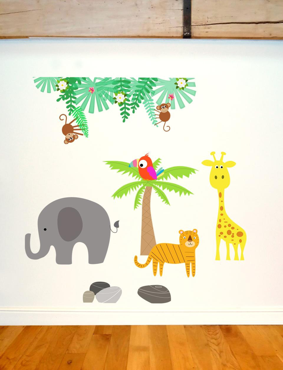 Jungle visuel mur