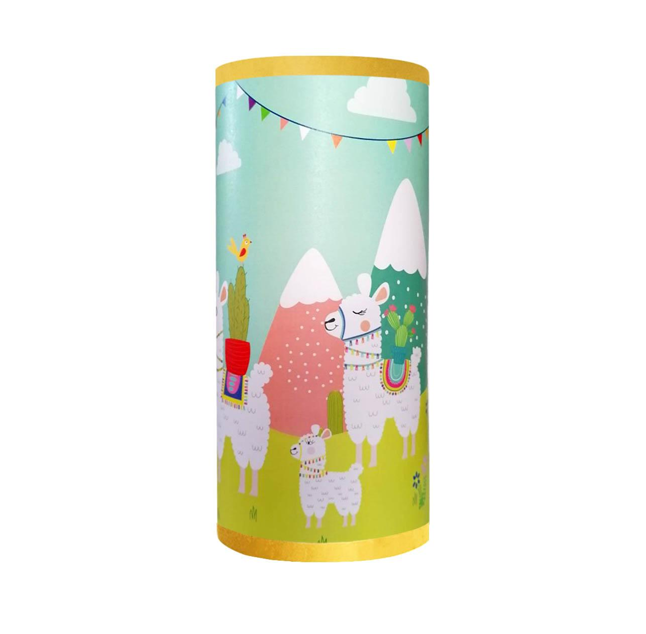 La famille lama lampe tube 2