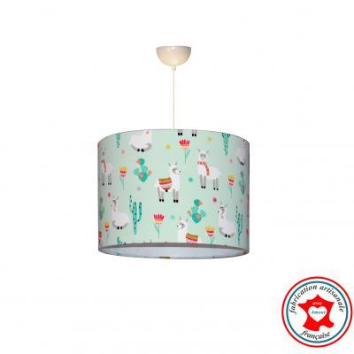 """Lampe de chevet """"Les lamas dans la pampa"""" bleu"""