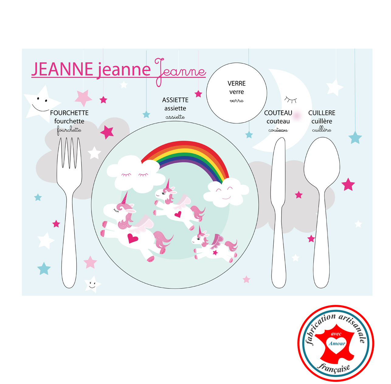 Licorne set de table
