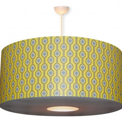 "Abat-jour ou Suspension en papier, motif  ""Seventies n° 5"""