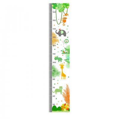 Toise enfant  thème jungle safari tons vert et orange