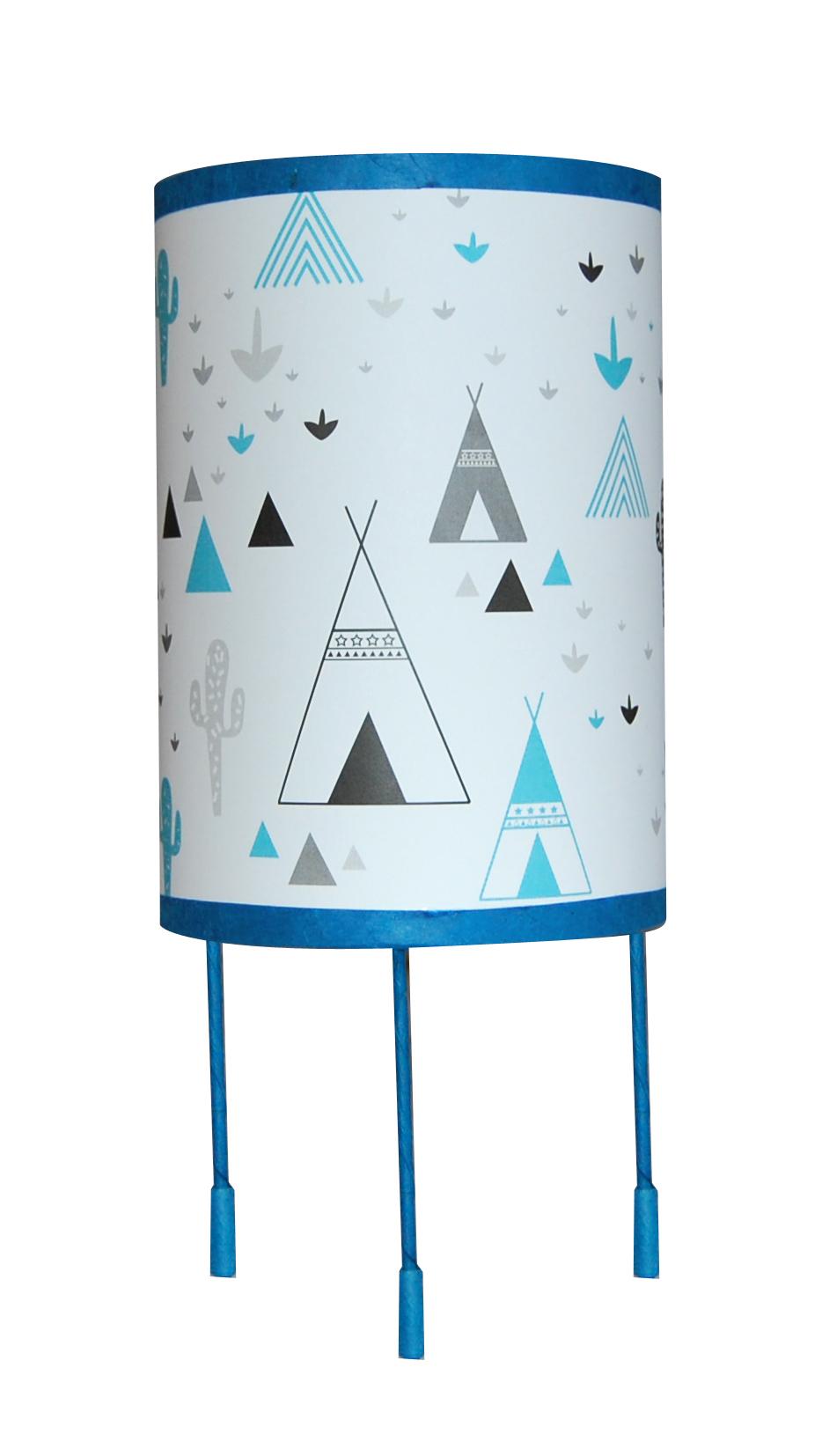 Tipi bleu lampe