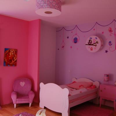 """Abat-jour ou Suspension,""""Wallpaper"""" motif fleurs et arabesques"""